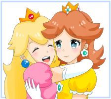 Peach and Daisy - BFF's by PeachyEmily