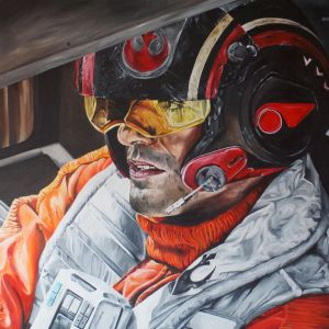Poe Dameron painting  by tereztrial