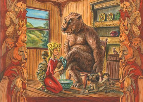 Goldy Locks And The Bear by PierreDeCelles