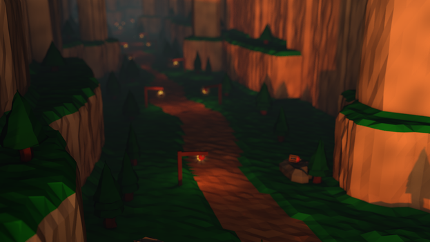 Valley - Low Poly by Lithium-Polygon