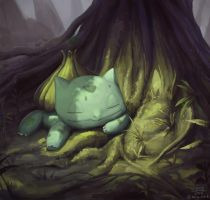Forest Bulbasaur by mcgmark