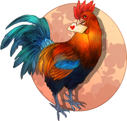 Valentine Rooster by Repare