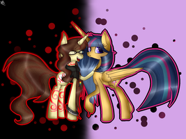 MLP Silver Sentry And Scarlet Dream Note by GalaxySwirlsYT