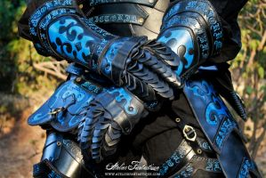 Blue black armor by AtelierFantastique