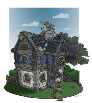 House on a hill by Buttomancer