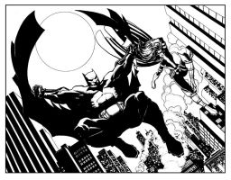 Batman and Huntress 2 pg Spread by Roger-Robinson