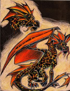 Lava Dragon Tattoo: V1 by DoodlesandDaydreams