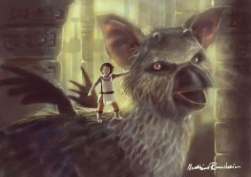 The last Guardian fan art by Furgur