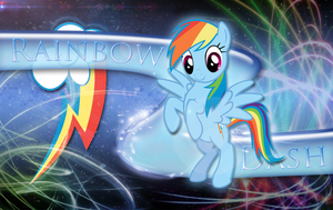 Rainbow Loyalty Dash Wallpaper by MLArtSpecter