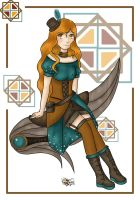 Steampunk girl by LittleStar-Fish