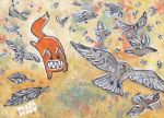 ACEO 041 - Mighty Crow by PizzaFisch
