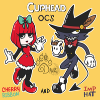 Cherry Ribbon and Grim Hat by gisselle50