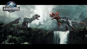 Indominus Rex VS Ultimasaurus by WidowKnight