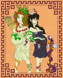 Demeter y Hecate matriarchal goddesses by ah-puch-zegno