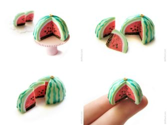 Sweet Watermelon Cake by allim-lip