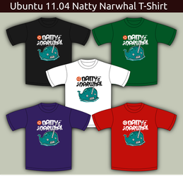 Ubuntu Natty Tshirt Five Color by rikulu