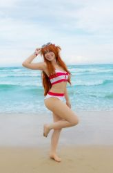Asuka Langley Swimsuit Cosplay - Evangelion by SailorMappy
