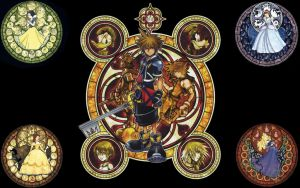 Kingdom Hearts Stained Glass by KeybladeMeister