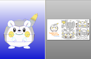Togedemaru Papercraft + Download Link
