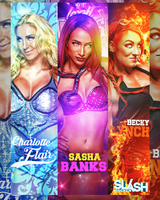 Charlotte, Becky Lynch, Sasha Banks by WWESlashrocker54