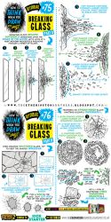 How to draw BREAKING SHATTERING GLASS tutorial by STUDIOBLINKTWICE