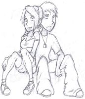 Konoha High Couples: Shikaino by Xubbles