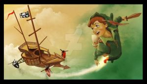 SteamPunk PeterPan by tediousSartre