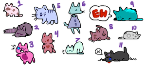 1-2 POINTS Cat Adopts (1/11 OPEN) by SpaceReame
