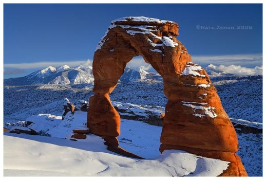 Winter Falls on Arches by Nate-Zeman