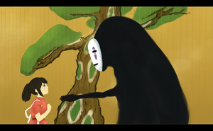 No face and Chihiro by Belruel