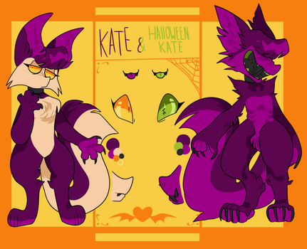 Kate and Halloween Kate reference sheet by Mewnixx