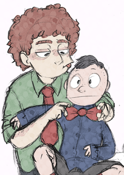 bros doodle by desthpicable