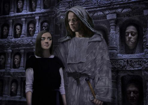 Arya and Jaqen by AlexandraSam