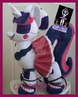 mlp plushie Ballora Glimmer FNAF commission by CINNAMON-STITCH