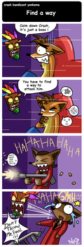crash bandicoot yonkoma by Chimykal-girl