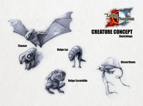 Creature Concept - Various by Onimetal