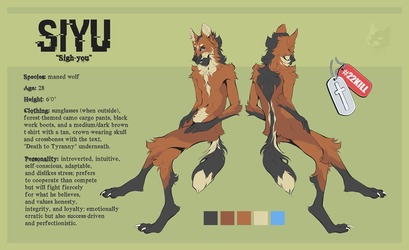 [NMA] Siyu Reference Sheet by HRS-Phoenix