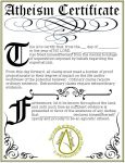 Atheism Certificate by Ankh-Infinitus