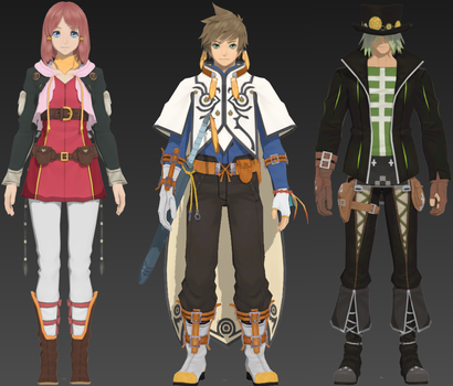 Tales of Zestiria Chars (Pack 2) by DSX8
