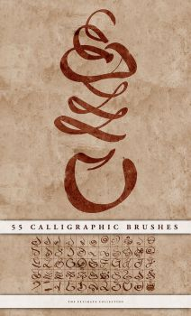 Calligraphic brushes by doodle-lee-doo