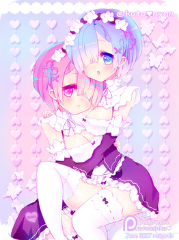 Rem and Ren by KotoNyan