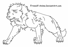 Wolf reference sheet line art by firewolf anime on deviantart injured wolf lineart by firewolf anime ccuart Choice Image