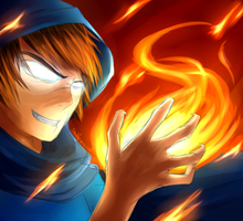 Herobrine - Through the Flames by Proxentauri