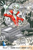 Deadman Oversized Sketch card by andypriceart