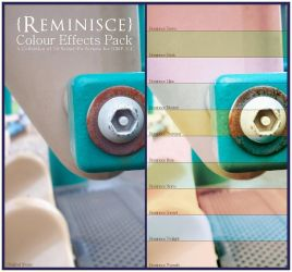 Reminisce Colour Effects Pack v.1.1 by ClaireJones