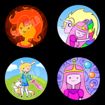 New Adventure Time Buttons by NikkiWardArt