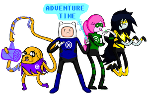 Adventure Time: Lantern Corps. by icanhascheezeburger