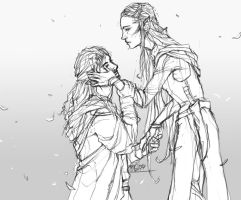 Kili and Tauriel by Elkiz