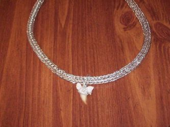 Viking Wire and Shark Tooth Necklace by BloodWolf19
