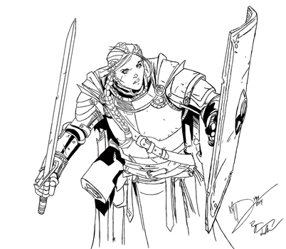 Knight Sketch by Max Dunbar - INKED by Rusten